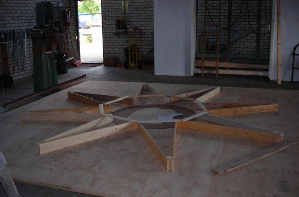 Orienteertafel Kuiperberg restauratie mal sierbeton